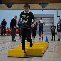 West Leicestershire Claim School Games Disability Sportshall Athletics title