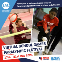 Get ready for our Virtual School Games Paralympic Festival!