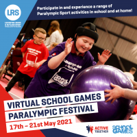 Just under 2 weeks to go until our Virtual School Games Paralympic Festival!
